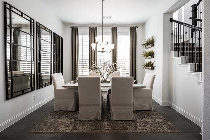 Highland Homes model, dining area