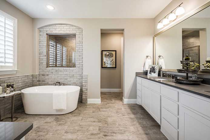 Highland Homes model, master bathroom