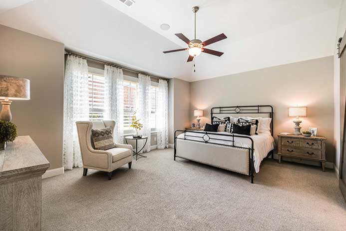 Highland Homes model, master bedroom