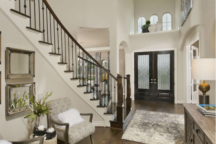 Perry model home, entryway