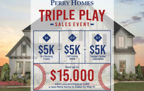 Build or purchase a new Perry Home in The Knolls phase, and save up to $15,000!  Learn more at the <a href='https://www.perryhomes.com/promotion/triple-play-sales-event-dallas/' target='_blank'>Perry Homes website</a>.