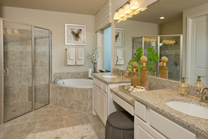 Perry model home, master bathroom